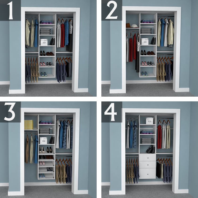 Amazing Reach In Closet Organization Ideas Part - 2: 6-foot Closet