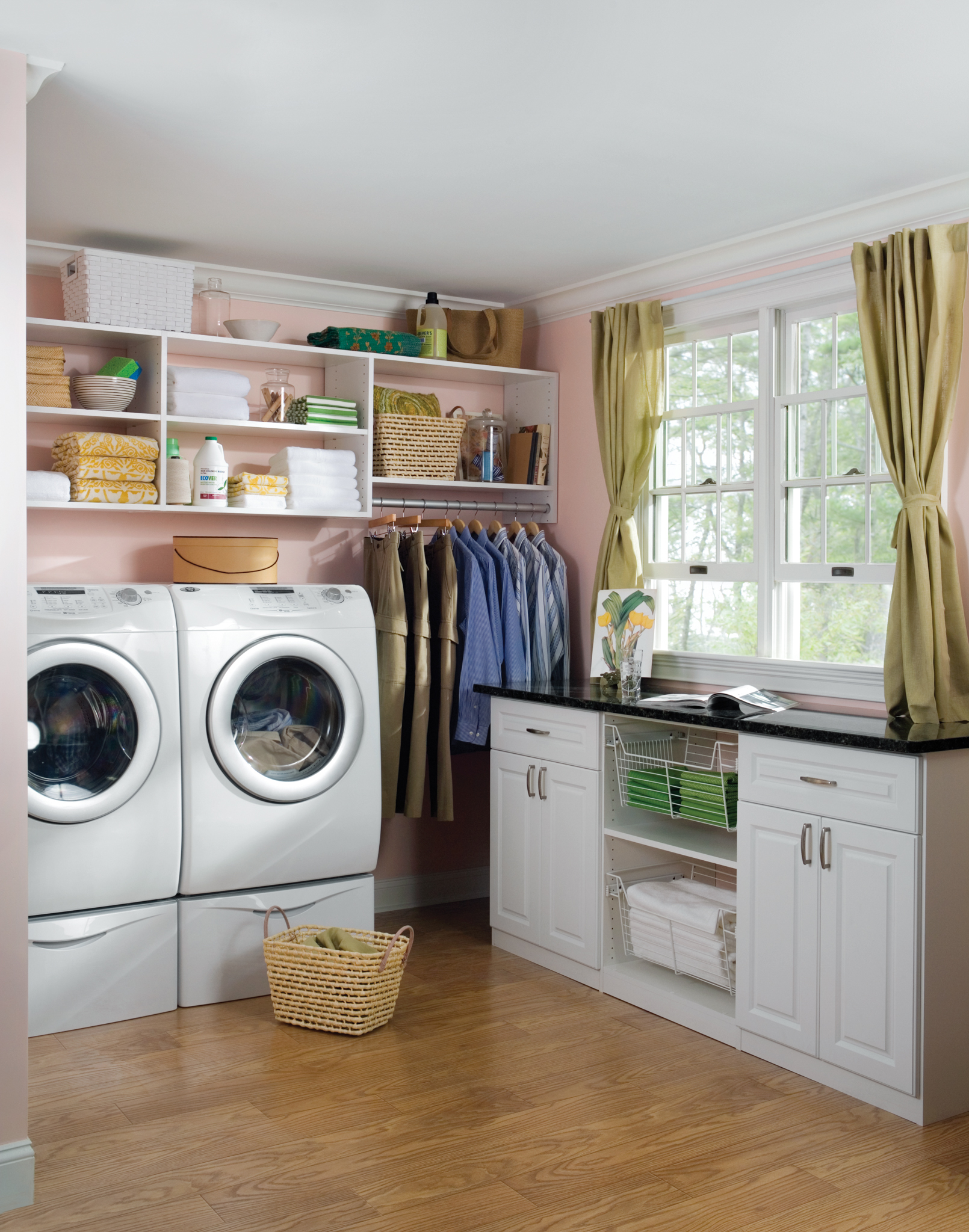 Instead Of Storing Things On Or Near The Floor, Raise Them Up. Hanging Open  Shelving In The Laundry Room Can Boost The Storage Capacity In The Room As  Well ...