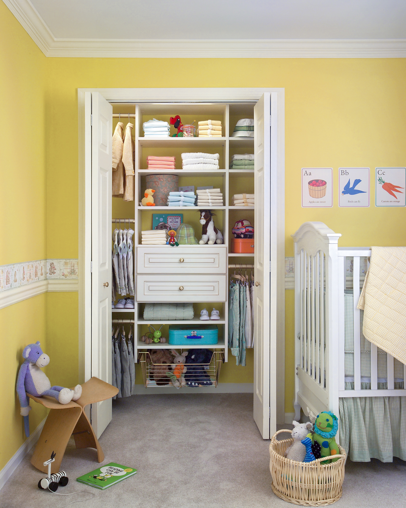 4113c07a2f23 What a small closet lacks in width it can make up for in vertical space.  Embrace double hanging to give yourself twice the amount of hanging room  for ...