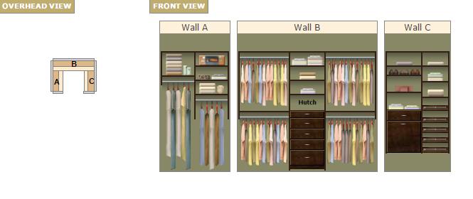 Master closet design a