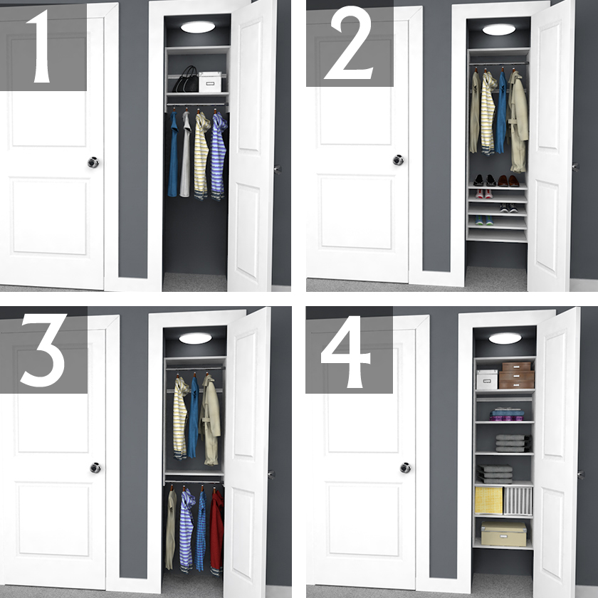 Design Ideas For 6 Foot 3 And 2 Reach In Closets