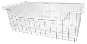 "8"" Wire Basket - White"