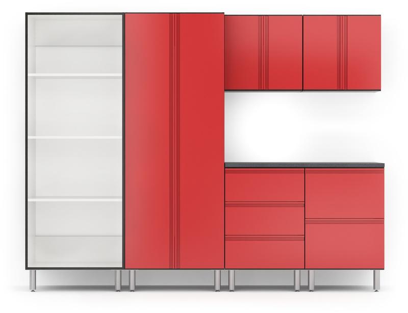 108 wide 7 piece garage package easygarage rh easygaragestorage com