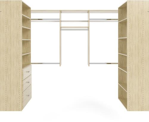 U-Shape Walk-In Closet - Honey Blonde