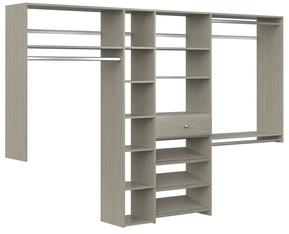 Shoe Storage Closet Kit - Weathered Grey