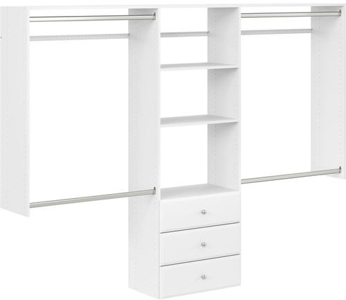 4' to 8' Deluxe Pro Closet - White