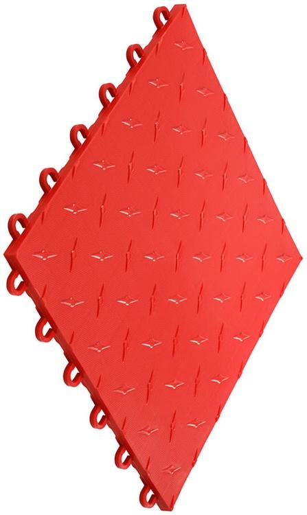 """12""""x12"""" Garage Flooring Tile - Racing Red (10 pk)"""