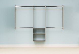 4' to 8' Deluxe Starter Closet - Weathered Grey