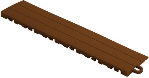 "12"" Pegged Edge Flooring Tile - Chocolate Brown (10pk)"