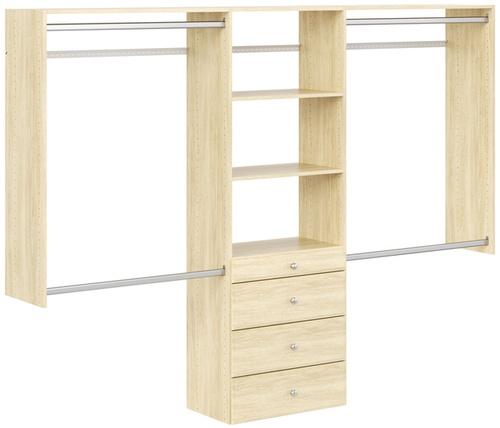 4' to 8' Deluxe Closet - Honey Blonde