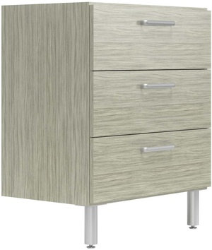 "19"" Deep x 30"" Wide Base Cabinet with 3 Drawers"