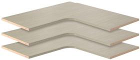 Corner Shelves - Weathered Grey (3 pack)