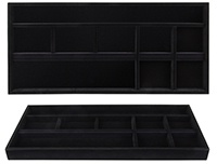 Jewelry Tray 14d x 30w Black Velvet