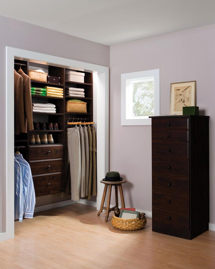 Man's Efficient Reach-In Closet