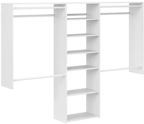 4' to 8' Basic Plus Closet - White
