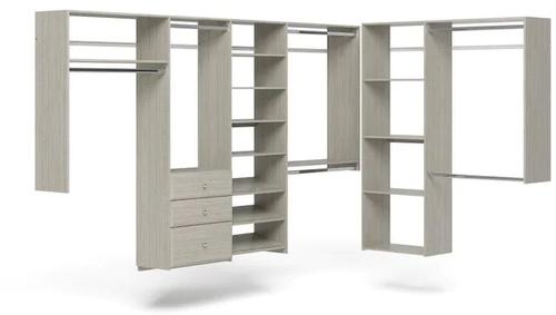 L-Shape Walk-In Closet - Weathered Grey