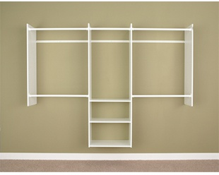 4' to 8' Deluxe Starter Closet - White
