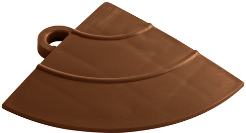"12"" Corner Flooring Tile - Chocolate Brown (4pk)"