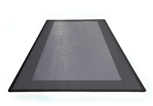 17'x8' One Car Parking Mat - Slate Grey and Pearl Silver