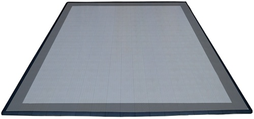 17'x17' Two Car Parking Mat - Slate Grey and Pearl Silver