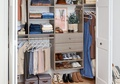 Capsule Wardrobe Reach-In Closet