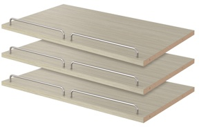 """24"""" Shoe Shelves - Weathered Grey (3 pack)"""