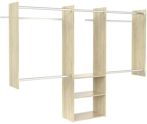 4' to 8' Deluxe Starter Closet - Honey Blonde