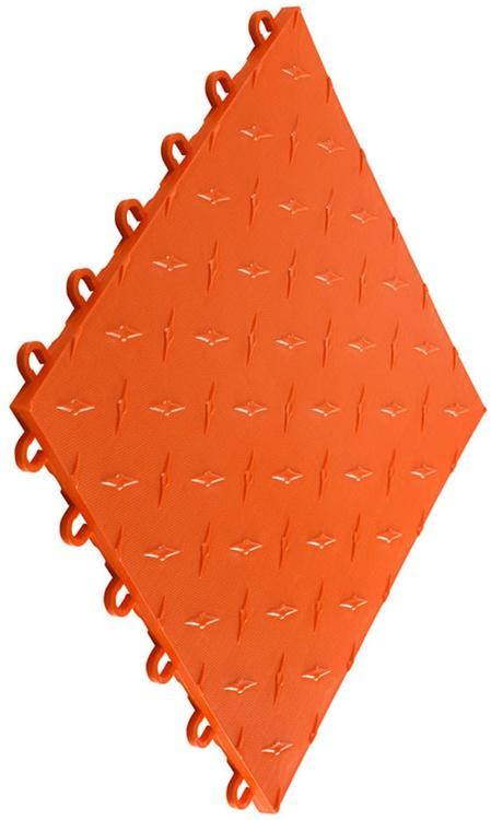 """12""""x12"""" Garage Flooring Tile - Tropical Orange (10 pk)"""