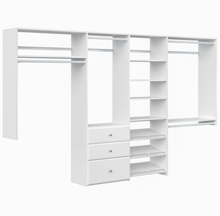 Dual Tower Closet Kit - White