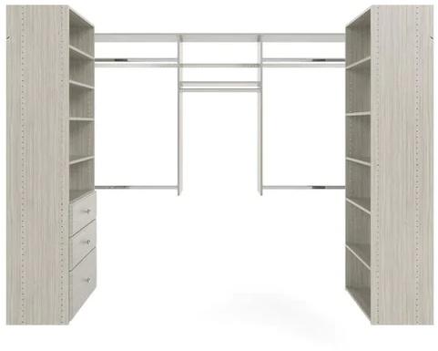 U-Shape Walk-In Closet - Weathered Grey