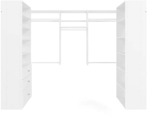 U-Shape Walk-In Closet - White
