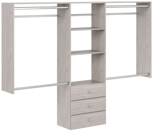 4' to 8' Deluxe Pro Closet - Weathered Grey
