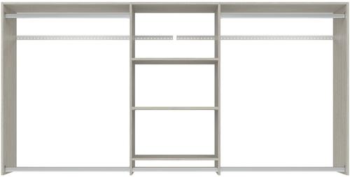 4' to 8' Hanging Plus Closet - Weathered Grey