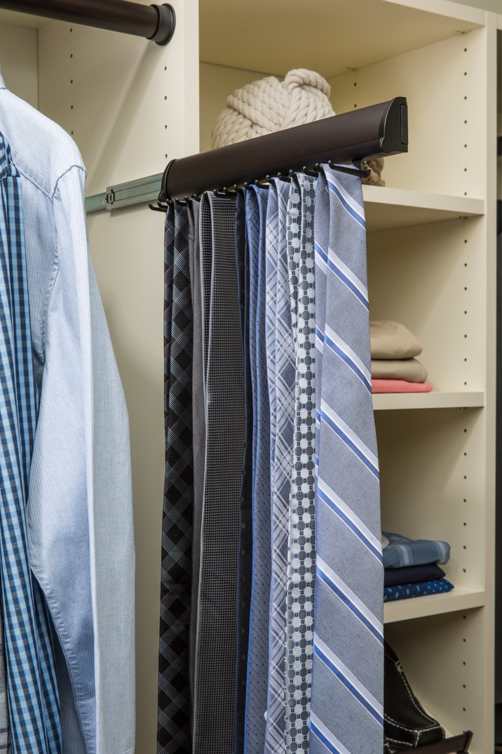 Slide-out Tie Rack