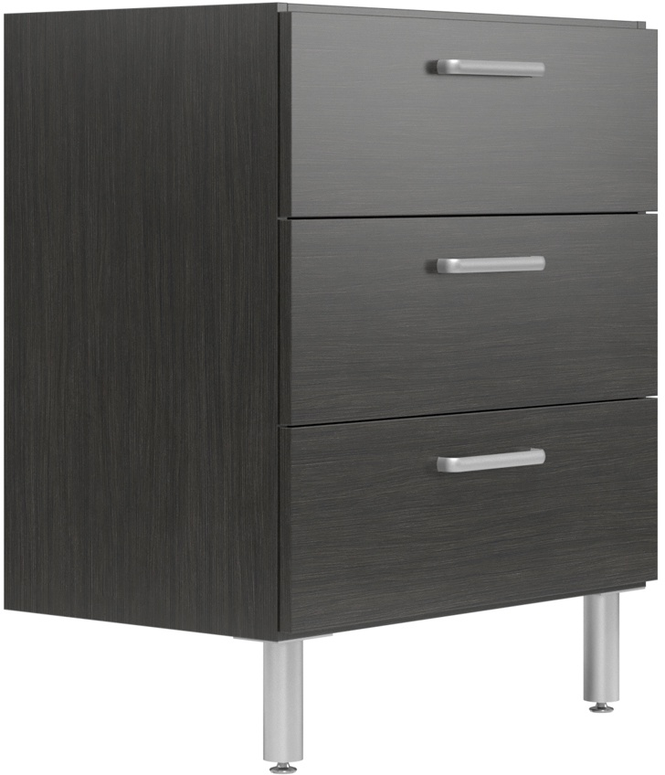 """Top 70 Best Garage Cabinet Ideas: 30"""" Wide Base Cabinet With 3 Drawers"""