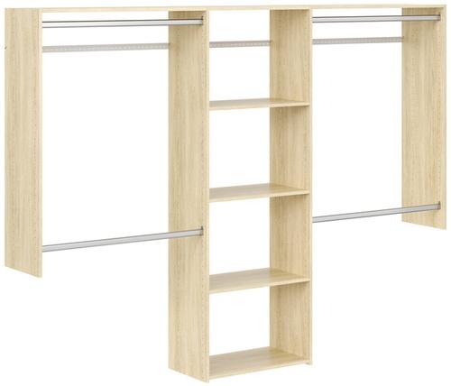 4' to 8' Basic Closet - Honey Blonde