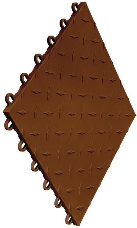 """12""""x12"""" Garage Flooring Tile - Chocolate Brown (10 pk)"""