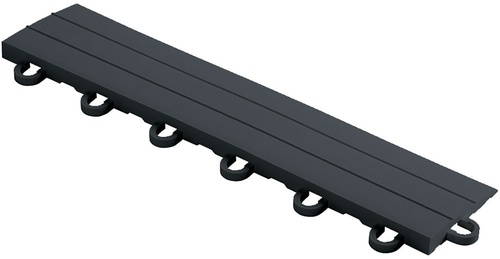 "12"" Looped Edge Flooring Tile - Slate Grey (10pk)"