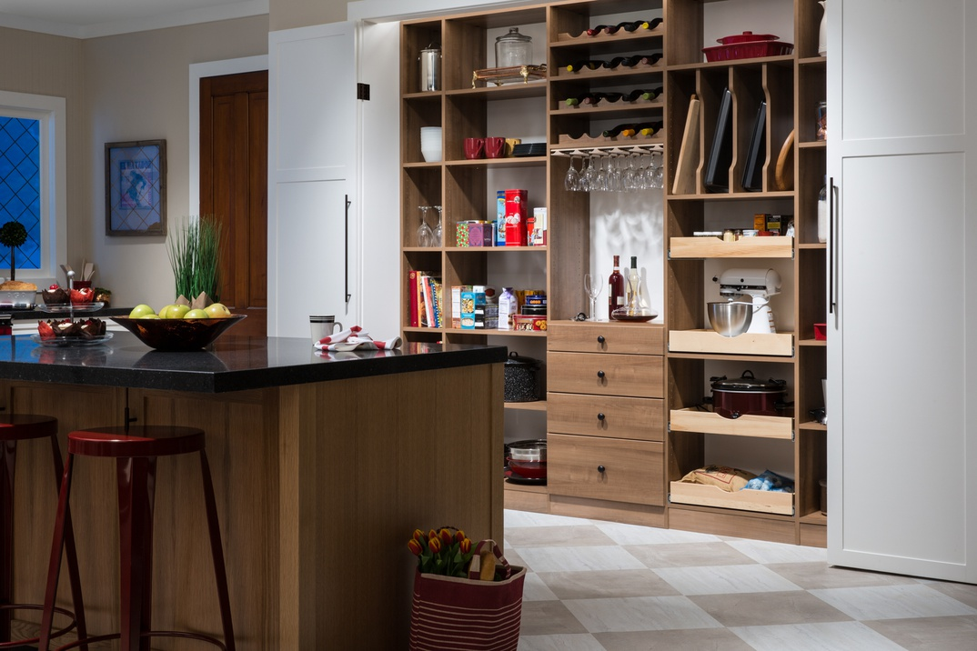Upscale Reach-in Pantry