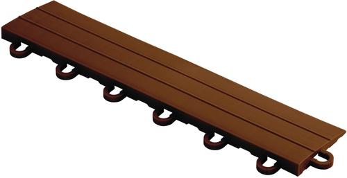 """12"""" Looped Edge Flooring Tile - Chocolate Brown (10pk)"""