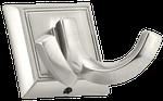 Double Hook - Matte Nickel