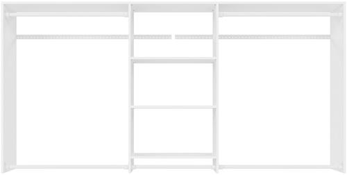 4' to 8' Hanging Plus Closet - White