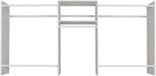 4' to 8' Basic Starter Closet - White
