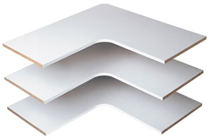 Corner Shelves - White (3 pack)