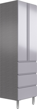 """24"""" Wide Tall Cabinet with Doors/3 Drawers"""