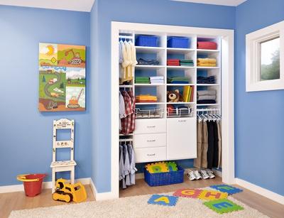 Boy's Reach-In Closet