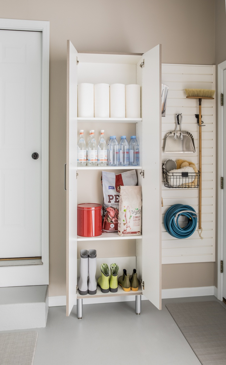 24 Quot Wide Tall Cabinet With Doors Easygarage