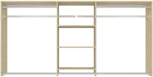 4' to 8' Hanging Plus Closet - Honey Blonde