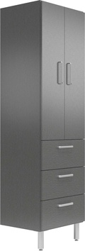 "19"" Deep x 24"" Wide x 78"" Tall Cabinet with Doors/3 Drawers"