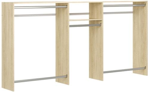 4' to 8' Hanging Closet - Honey Blonde
